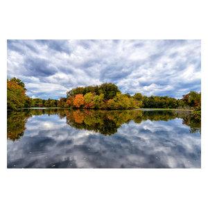 """""""Autumn Reflections"""" Landscape Photo Rural Unframed Wall Art Print, 24""""x36"""""""
