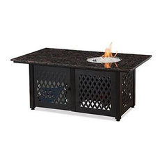 Mr. Bar-B-Q, LLC. - Blue Rhino Dual Heat LP Gas Outdoor Fire Table With Black Granite Mantel - Fire Pits