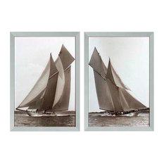 """Eichholtz """"Beken of Cowes"""" Framed Prints, 87x67 cm, 2-Piece Set"""