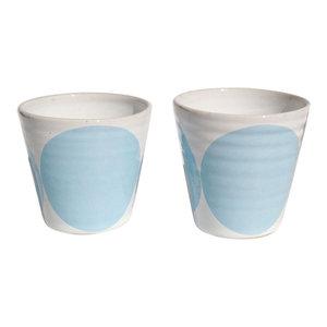 Tina Coffee Cups, Set of 2, Light Blue