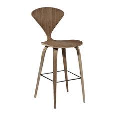 Aeon Furniture - Aeon Furniture Eddie Bar Stool, Walnut - Bar Stools and Counter Stools