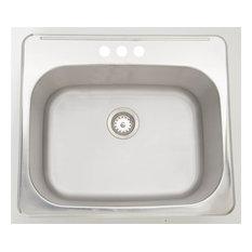 Modern Rectangular Laundry Sink, Chrome