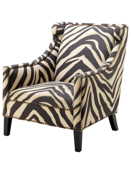 Jenner Zebra Chair   Armchairs And Accent Chairs