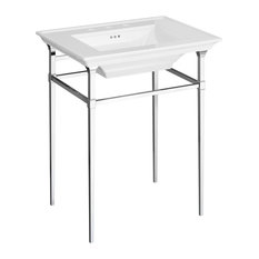 Town Square S Console Table, Polished Chrome
