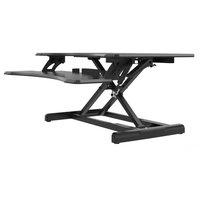 Premium Adjustable Height Lift Bridge Standing Desk by Home Concept Ergonomic fo