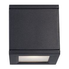 WAC Lighting Rubix LED Outdoor Up and Down Wall Light, Black