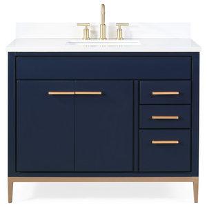 42 Beatrice Modern Brown Bathroom Vanity Contemporary Bathroom Vanities And Sink Consoles By Chans Furniture