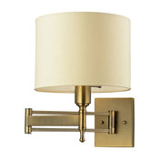 Pembroke 1- Light Swing Arm, Antique Brass