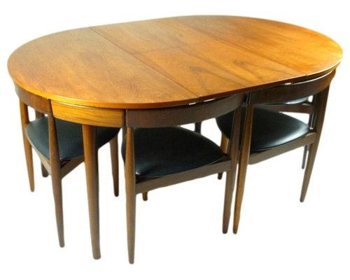 Danish Hans Olsen Frem Rojle Teak Table   Dining Sets