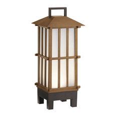 Kichler 49247BWFLED Davis Portable Bluetooth LED Lantern, Bamboo Wood