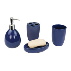 4-Piece Bath Accessory Set, Navy