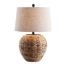 "Alaro 24.5"" Banana Leaf Basket LED Table Lamp, Natural"