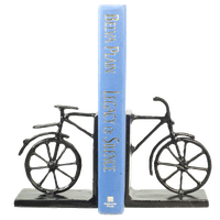 2-Piece Bicycle Iron Bookend Set
