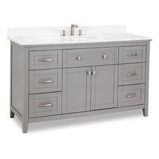 "Chatham Shaker Vanity with Preassembled Top and Bowl 60""x22""x36"" Gray"