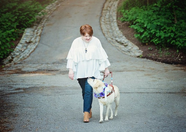 Holly Bonner and her dog, Frances