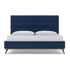 Cooper Upholstered Bed, Cobalt Velvet, California King