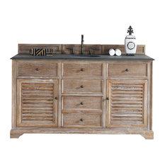 James Martin Furniture Savannah 60 Single Vanity Cabinet Driftwood Only No Top Bathroom Vanities And Sink Consoles