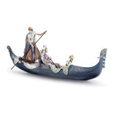 Lladro In The Gondola Figurine