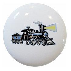 Train Ceramic Cabinet Drawer Knob