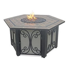 Blue Rhino, Uniflame   Blue Rhino GAD1352SP LP Gas Outdoor Fire Table With  Slate Tile