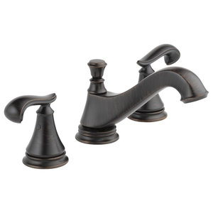 Delta Cassidy Venetian Bronze Widespread Bathroom Faucet Includes Drain D1791V