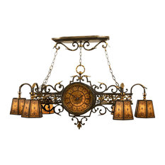 Fine Art Lamps 452440ST Epicurean Charred Iron Island Light