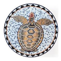 Sea Turtle Mosaic, 24x24