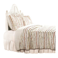 Greenland Home Fashions - Greenland Home Bella Ruffle Quilt And Sham Set, 3-Piece  Full/Queen - Quilts and Quilt Sets