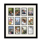 ArtToFrames Collage Photo Frame With 12 - 4x6 Openings and Satin Black Frame