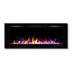 """Bombay 50"""" Crystal Touch Screen Multi-Color Wall Mounted Fireplace"""