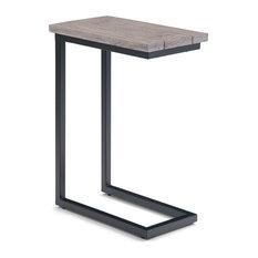 Skyler Solid Mango Wood And Metal 18-inch Industrial C Side Table Birch
