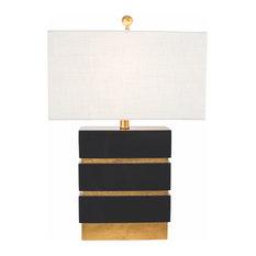 "San Simeon Table Lamp, Gloss Black, 24""H"