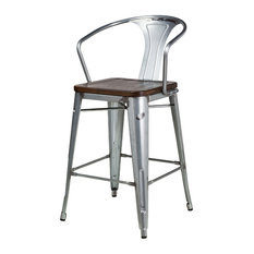 Bastille Counter Stool With Walnut Seat
