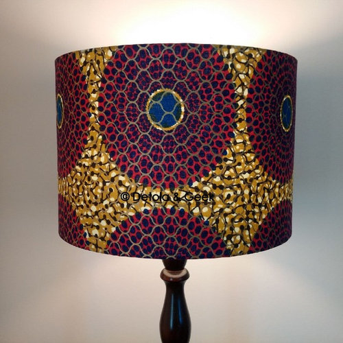 Handmade african inspired lampshades for sale geometric african lampshade by detola geek lamp shades aloadofball Choice Image