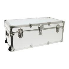 Seward Trunk - Seward Trunk Modern Collection 30  Wheeled Storage Locker White - Decorative  sc 1 st  Houzz & 50 Most Popular Contemporary Decorative Trunks for 2018 | Houzz