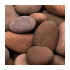 "Rosa Beach Pebbles, Pink, 3"" to 5"", 30 Lb."