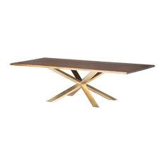 Jadira Dining Table Seared Gold Brush 112-inch
