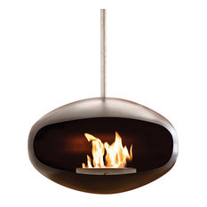 Cocoon Aeris Black Hanging Fireplace