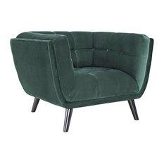 Bestow Velvet Armchair, Green