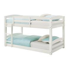 Dorel Living Aaida Twin Floor Bunk Bed, White