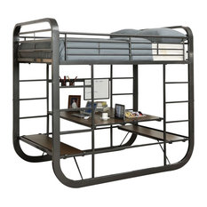 Sleep and Play USA - Wentworth Metal Multi-Functional Bunk Bed, Full Over Full - Bunk Beds