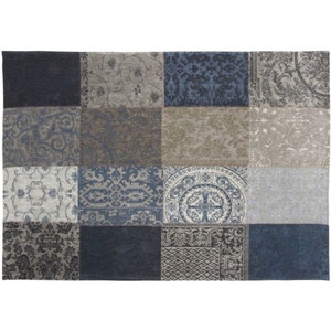 Vintage Blue Denim Rectangular Rug, 140x200cm
