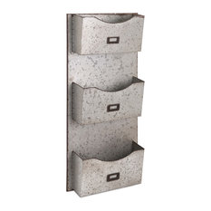 Imax - Imax Galvanized Wall Hanging File Holder - Filing Cabinets