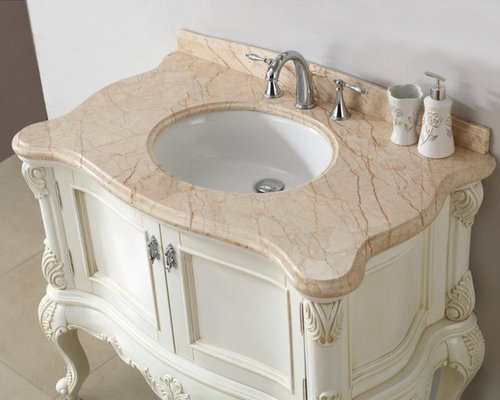 Creative Adelina 56 Inch Antique Style Bathroom Vanity Fully Assembled White