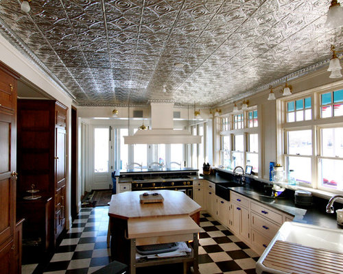 Victorian Galley Separate Kitchen Design Ideas Renovations Photos