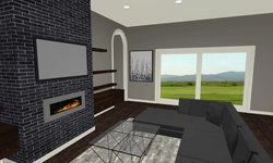 Sherbourne Circle - Living Room 3D Drawing