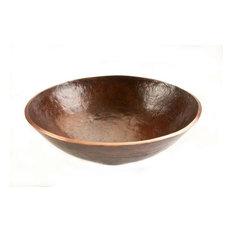 Round Hand Forged Old World Copper Vessel Sink