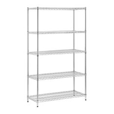 Honey Can Do 5-Tier Chrome Storage Shelves 800 Lbs.
