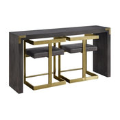 3-Pc Rectangle Console Table Set