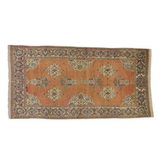 Consigned, Vintage Persian Tabriz Rug With Swedish Farmhouse Style, 4'00x07'07